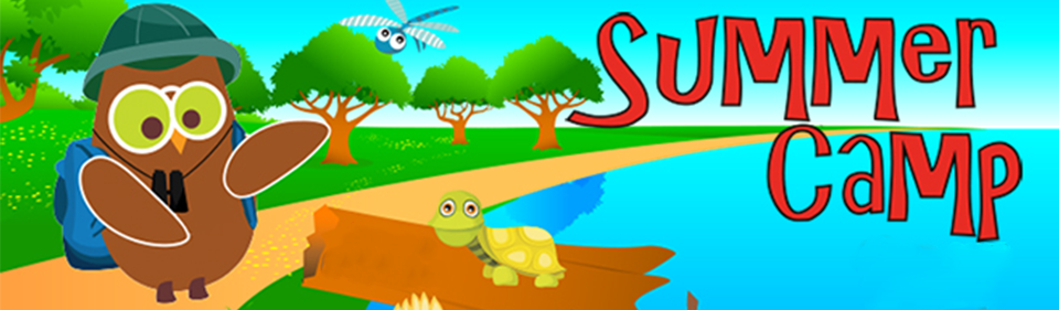 Summer camp web banner blank